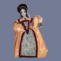Vintage Doll English Anne Boleyn Queen of England Wife of Henry the VIII Ottenberg-Doll W/ Tag
