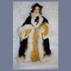 Vintage Doll FAB Katherine of Arragon Queen of England Wonderful Clothing Stunning