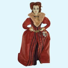 Vintage Doll Catherine Parr Queen Consort of England Gorgeous Wonderful Sculpted & Costume