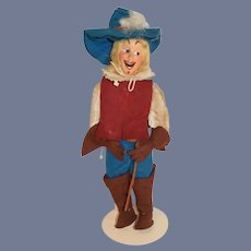 Old Cloth Felt Doll Character Adrian Italy Wonderful