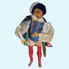 Old Shakespeare Doll Wonderful Sculpture Original Costume