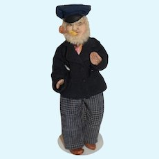 Vintage Cloth Doll Captain Jenks KimCraft Stockinette
