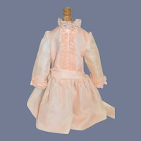 Sweet Vintage Drop Waist Chiffon  Lace Doll Dress