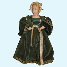 Vintage Anne Of Cleves Historical Doll Queen of England Henry VIII Wife Made in England
