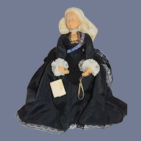Vintage Queen Victoria Devereux Models Doll Made in England W/ Tag Signed