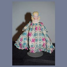 Old Doll Bisque Head Molded Bows