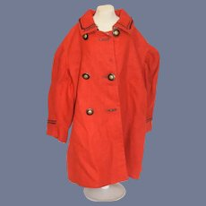 Beautiful Red Button Down Doll Coat
