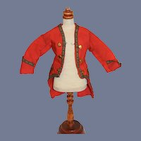 Red Button Down Doll Jacket