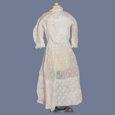 White Polka Dot Long Sleeved Doll Dress