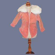 Pink Velvet Doll Jacket