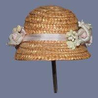 Beautiful White Flowers Straw Hat