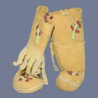 Tan Suede Doll Boots