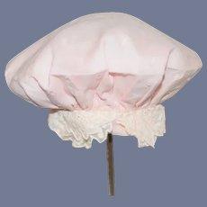Beautiful Pink Polka Dot Doll Hat Bonnet