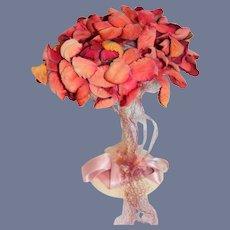 Sweet Doll Hat Bonnet Floral Unusual