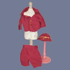 Sweet Vintage Three Piece outfit For Boy Doll Cap Jacket Pants