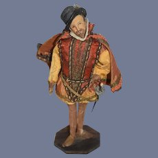 Wonderful Old Shakespeare Artist Doll Period Clothing Sculpture