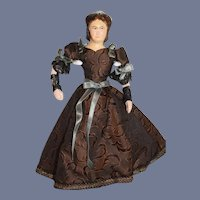 Wonderful Mary Todd Lincoln Sculpted Old Doll KimCraft Charming CLothes