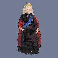 Vintage Queen Victoria Of England Sculpted Doll Unusual