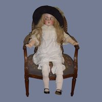 "Antique Doll HUGE 40"" Tall Flirty Eyes Gorgeous Beautiful Bisque"