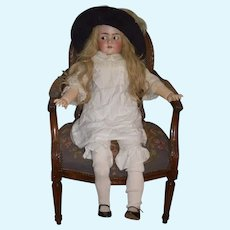 """Antique Doll HUGE 40"""" Tall Flirty Eyes Gorgeous Beautiful Bisque"""