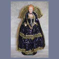 Wonderful Artist Doll Queen Elizabeth I Queen of England Portrait Historical Doll