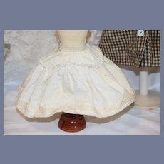 Old Doll Double Hoop Skirt Slip Undergarment