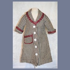 Old Gingham Doll Coat Jacket Button Charming