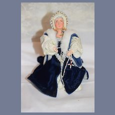 Wonderful Vintage Queen Elizabeth Wife of Henry VIII Signed on Bottom Artist Doll