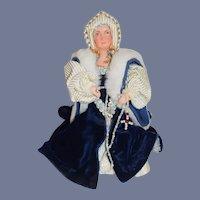Wonderful Vintage Queen Elizabeth Wife of Henry VIII Signed on Bottom Artist Doll