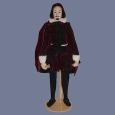 Wonderful Shakespeare Doll Portrait Historical Figure Artist Doll