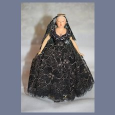 Vintage Queen Victoria Doll Portrait Historical B. Brooks Ped-a Doll