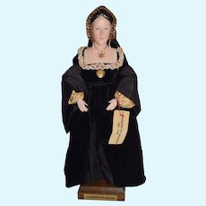 WONDERFUL Vintage Artist Doll  Catherine of Aragon Ann Parker English Costume Dolls