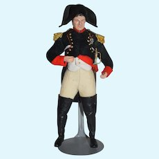 Vintage Artist Doll Napoleon Sculptured In Costume