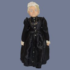 """Vintage Queen Victoria Doll Portrait Artist Doll 13.5"""""""