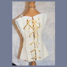 Vintage Lace Overlay Lace up Doll Corset Fashion Doll