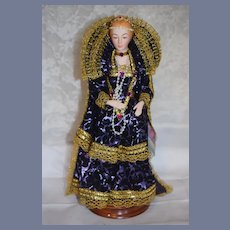 Wonderful Porcelain Queen Elizabeth EVELT Porcelain Historical Character Doll