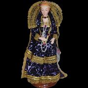 Wonderful Porcelain Queen Elizabeth EVELT Porcelain Historical Character Doll