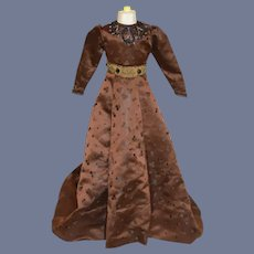 Gorgeous Vintage Doll Gown Dress W/ Beading For Fashion Doll