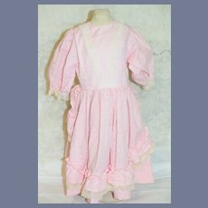 Sweet Vintage Doll Dress Hand Made by Elsie Original, Elsie Doll Clinic Gingham Lace