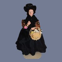 Vintage Doll Sculpted Cornish Shallowpool Flower Peddler