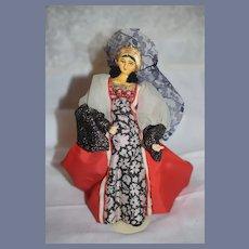 Old Doll Sculpted Anne Boleyne of England Wonderful Unusual