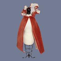 Small Red Velvet Hooded Doll Cape