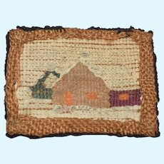 Miniature Doll House Hooked Rug Dollhouse Cottage