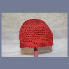 Red Knitted Doll Hat