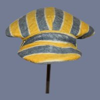 Blue and Yellow Stripe Conductor Doll Hat Cap Sweet