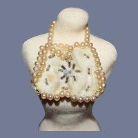 Miniature White Pearl Doll Purse