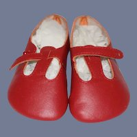 Lenore Red Doll Shoes W/ Button Straps