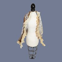 Beautiful Blue and Gold Print Doll Cape