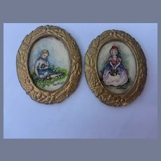 Wonderful Miniature Watercolor Paintings By Joan Mitchell Dollhouse Doll Sweet Pictures