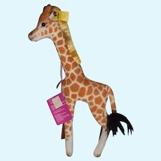 Steiff Giraffe Button Tag and String Tag 0755/28 Sweet